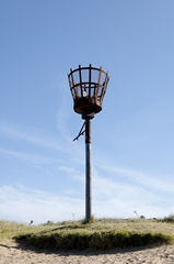 A view of beacon on the beach at Skegness in Lincolnshire, England. Link to Beacons Gallery.