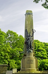View of the War Memorial, Buxton. Link to Memorials Gallery.